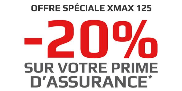 XMAX 125 : -20% sur votre prime d